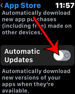 can i turn off automatic app updates on my Apple Watch?