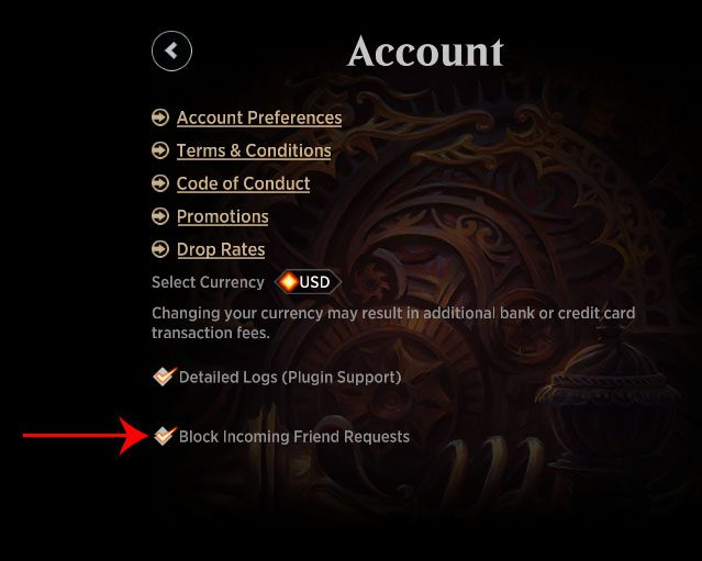 How to block incoming friend requests in MTG Arena