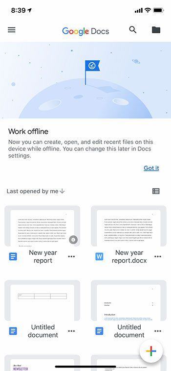 open the Google Docs file to edit