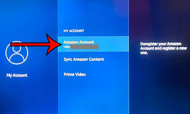 sign into a different Amazon account on a Fire TV Stick