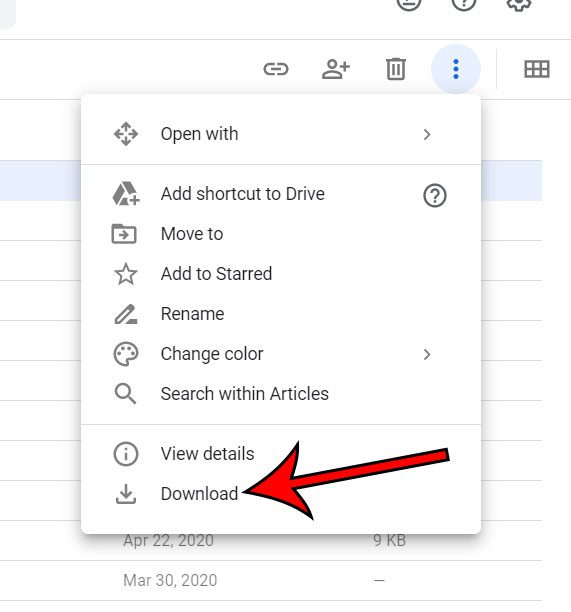 how to download an entire folder in Google Drive