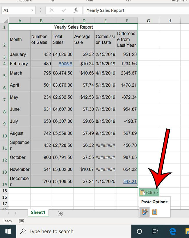 how to convert a Microsoft Word table to Excel
