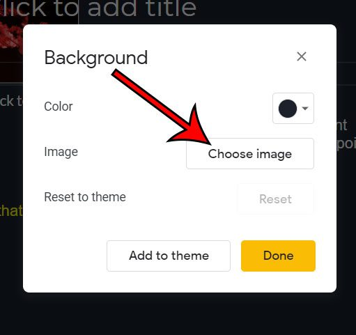 click the Choose image button