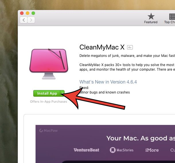 how to get CleanMyMac X from the App Store