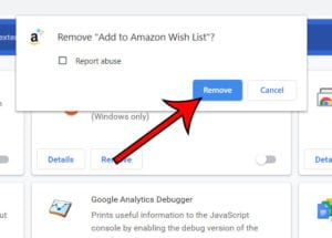 how to remove Chrome extensions