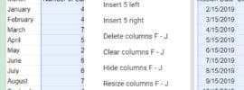 how to ungroup columns in Google Sheets