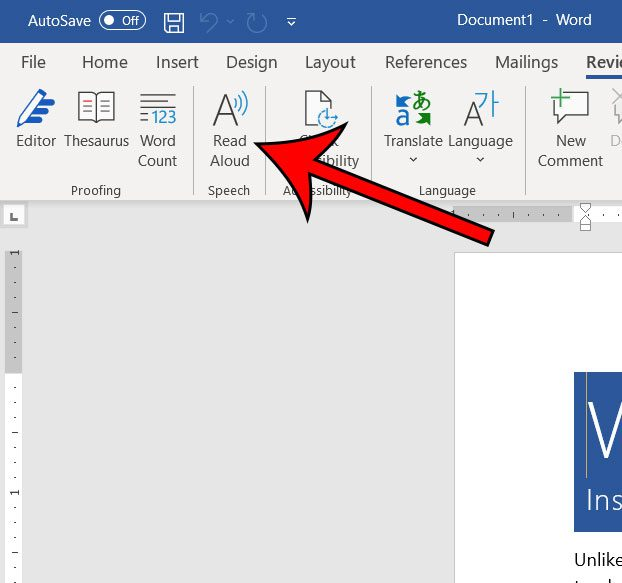 can Microsoft Word read to you?