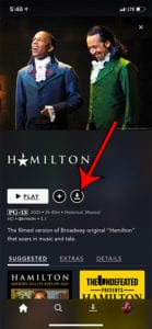 how to download Hamilton in Disney Plus on an iPhone