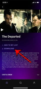 how to download a movie in HBO Max on an iPhone
