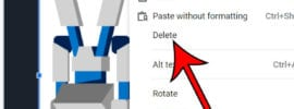 how to delete a picture from Google Slides