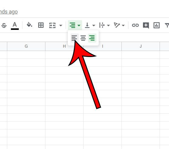 how to left align numbers in Google Sheets