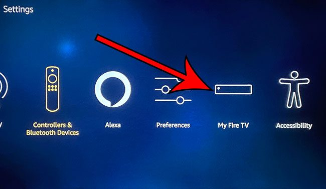 choose the My Fire TV option