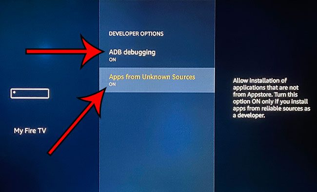 how to enable sideloading on the Amazon Fire TV Stick 4K