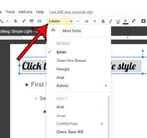 how to change the font on all slides in Google Slides