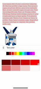 Google Docs mobile how to change text color