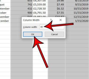 Excel how to make columns same size