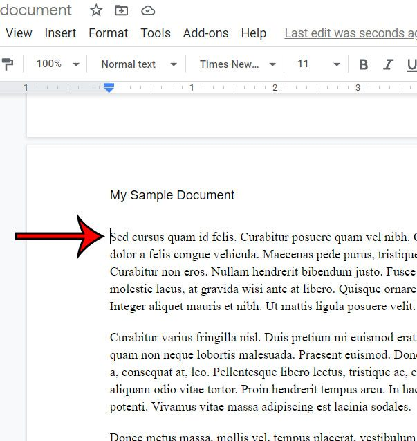 how to remove a Google Docs page break