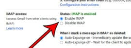 how to see if IMAP is enabled or disabled in your Gmail account