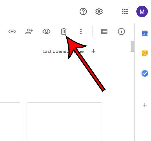 how to delete documents from Google Docs