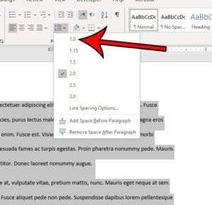 how to single space in Microsoft Word