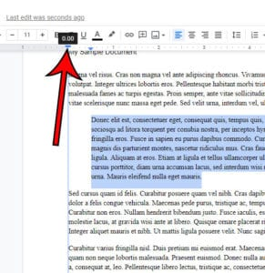 Google Docs indent second line